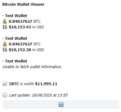 Пример BitcoinWalletBot