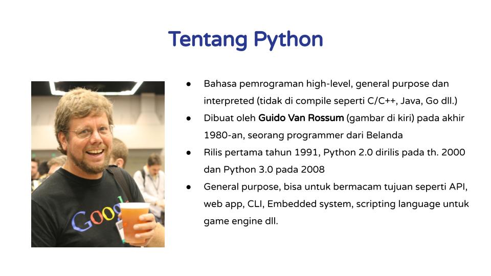 Tentang Python
