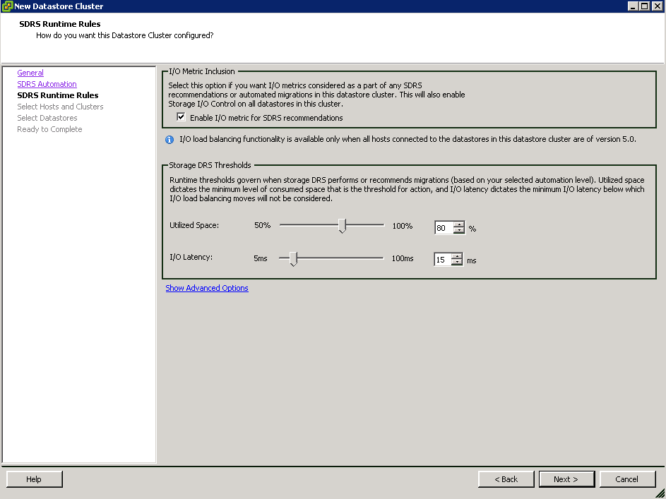 SDRS_Threshold_limits