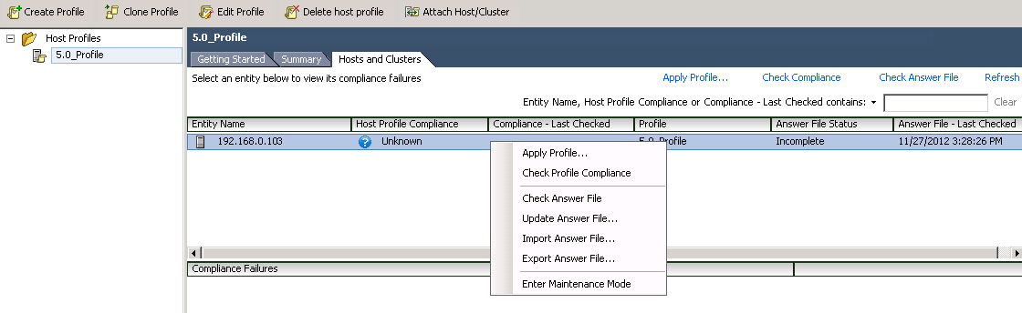 answer file options VCAP5 DCA Objective 5.1 – Implement and Maintain Host Profiles