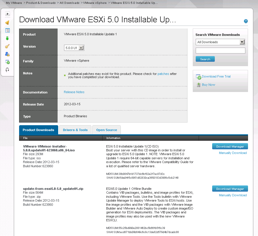 5 0U1 offline bundle download VCAP5 DCA Objective 9.1 – Install ESXi hosts with custom settings