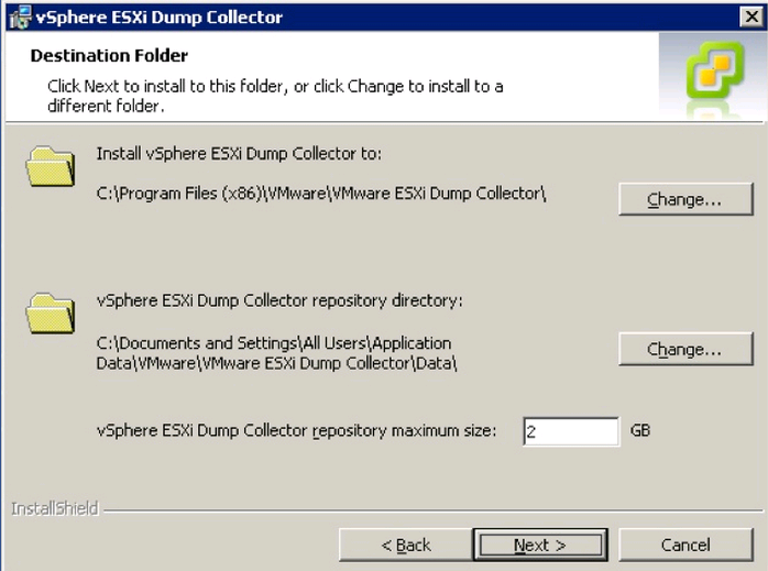 dump collector install size VCAP5 DCA Objective 6.1 – Configure, Manage, and Analyze vSphere Log Files