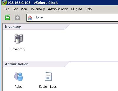 home view from host VCAP5 DCA Objective 6.1 – Configure, Manage, and Analyze vSphere Log Files