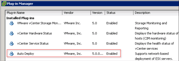 plug in manager auto deploy VCAP5 DCA Objective 9.2 – Install ESXi Hosts Using Auto Deploy