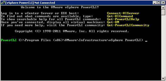 powercli without issues VCAP5 DCA Objective 8.1 – Execute VMware Cmdlets and Customize Scripts Using PowerCLI