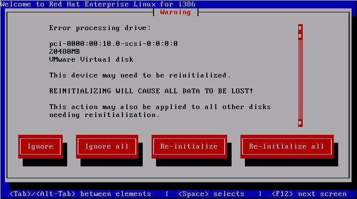 reinitialized disk rhel6 install RHCSA and RHCE Chapter 1   Installation