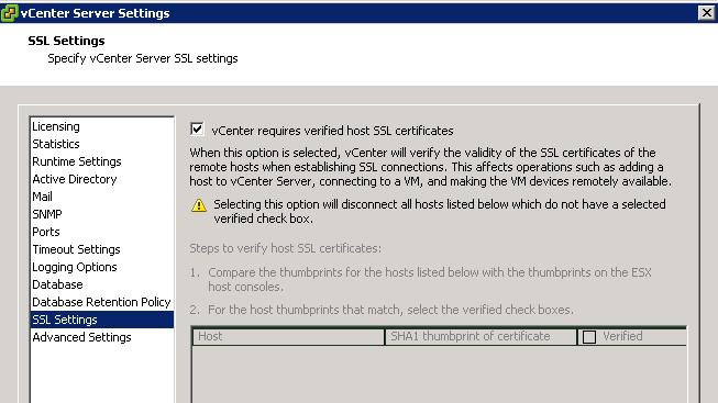vcenter verify ssl certs VCAP5 DCA Objective 7.1 – Secure ESXi Hosts