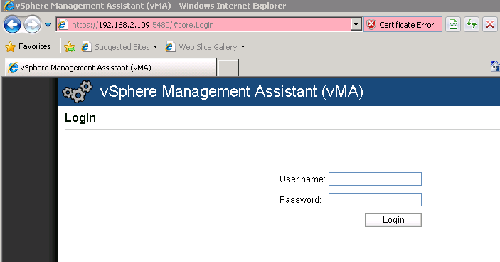 vma browser VCAP5 DCA Objective 8.2 – Administer vSphere Using the vSphere Management Assistant