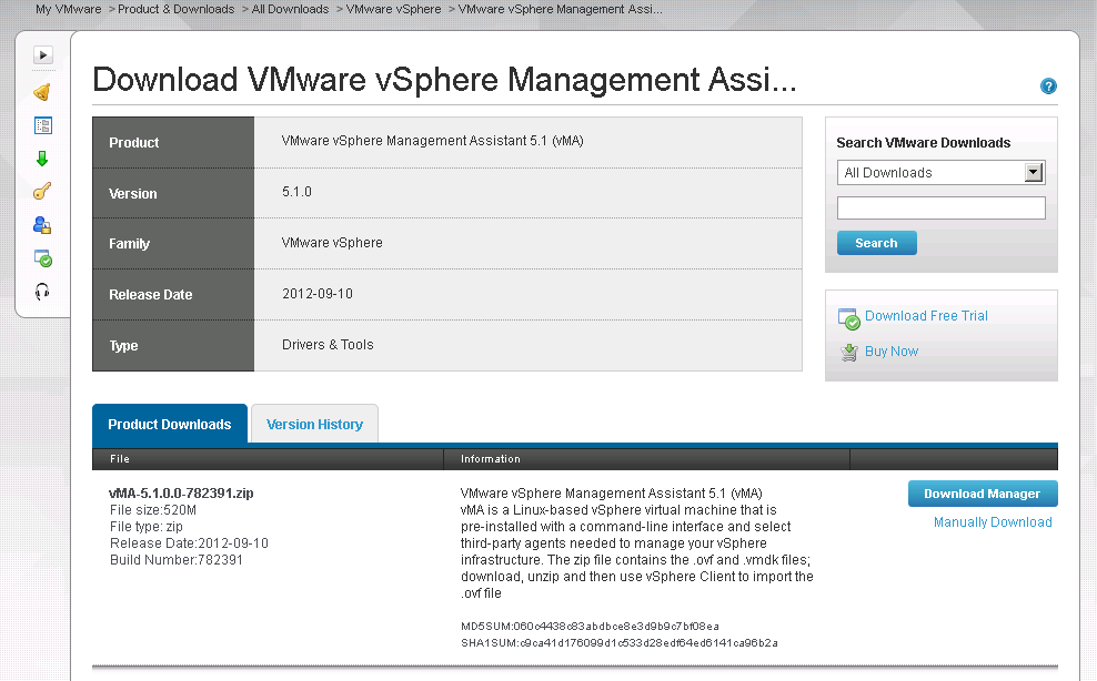 vma download VCAP5 DCA Objective 8.2 – Administer vSphere Using the vSphere Management Assistant