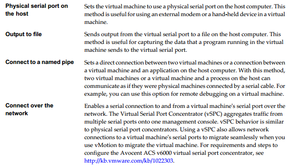 vserial port configuration Connecting to a VM using Serial Port Over the Network With a Moxa Device Server