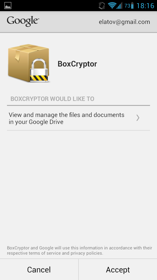 allow bx crypt to google drive Sharing a File Encrypted by EncFS with Android and Linux Systems with Google Drive