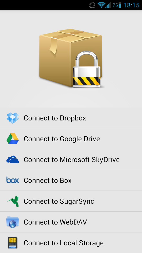 box crypt launched Sharing a File Encrypted by EncFS with Android and Linux Systems with Google Drive