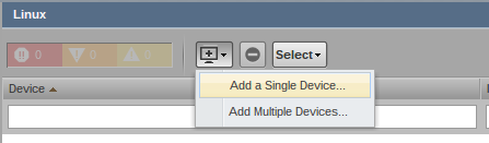 zenoss add device button g Monitor Different Systems with Zenoss