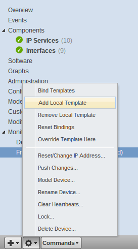 zenoss add local template button g Monitor Different Systems with Zenoss