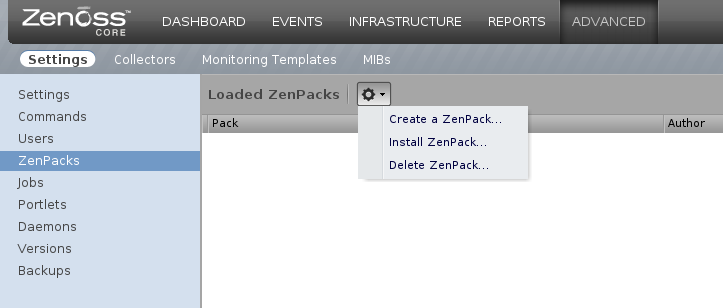 zenoss install zenpack Monitor Different Systems with Zenoss