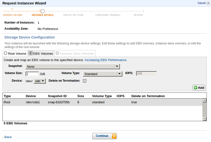 EBS Volumes New Instance Deploy an Amazon EC2 instance in the Free Usage Tier