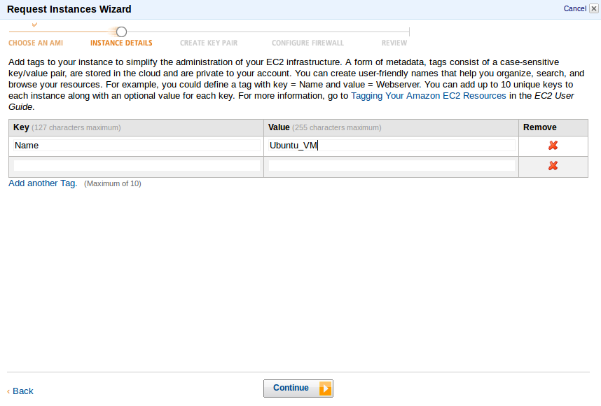 Tags New Instance Deploy an Amazon EC2 instance in the Free Usage Tier