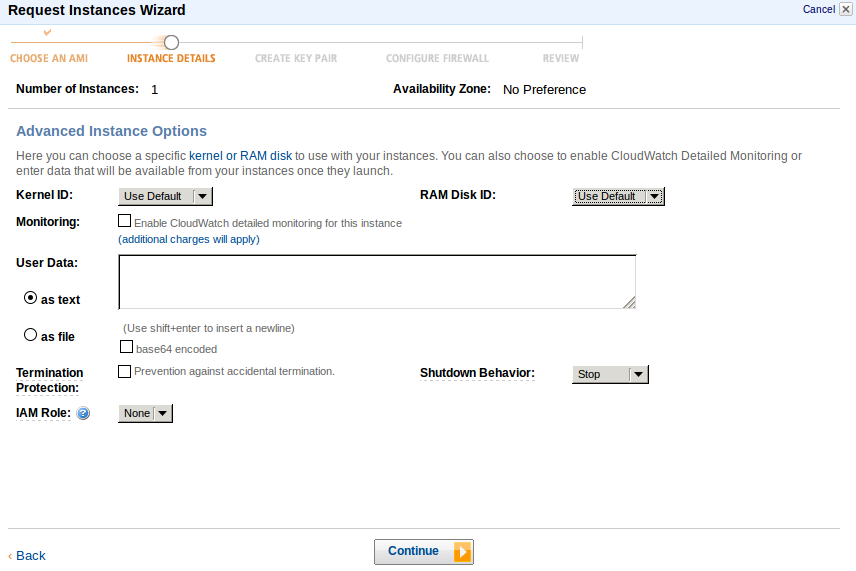 adv inst opt Deploy an Amazon EC2 instance in the Free Usage Tier