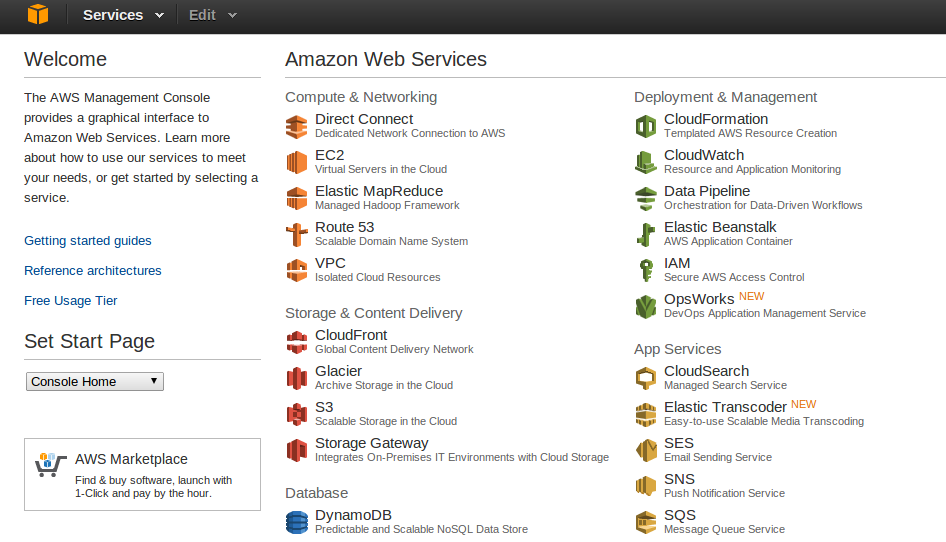 aws mgmt console Deploy an Amazon EC2 instance in the Free Usage Tier