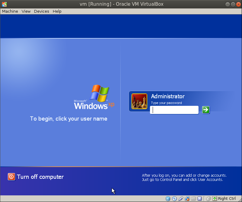 xp successful boot Migrating a VM from VMware Workstation to Oracle VirtualBox