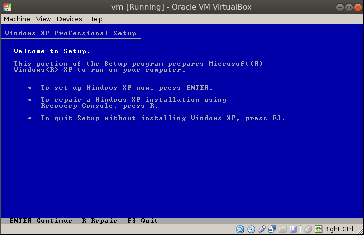 xp welcome screen Migrating a VM from VMware Workstation to Oracle VirtualBox