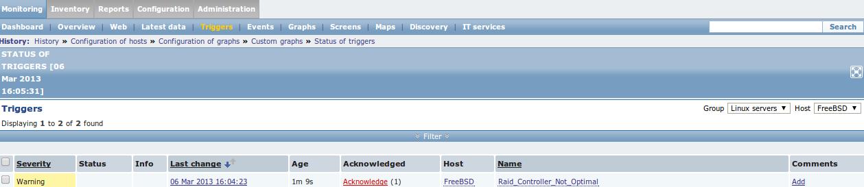 zabbix trigger fired Monitor Different Systems with Zabbix