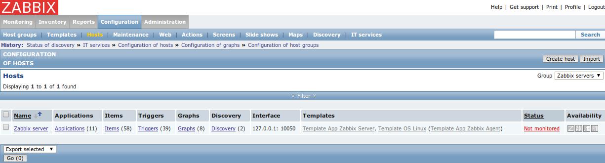 zabbix web conf hosts Monitor Different Systems with Zabbix