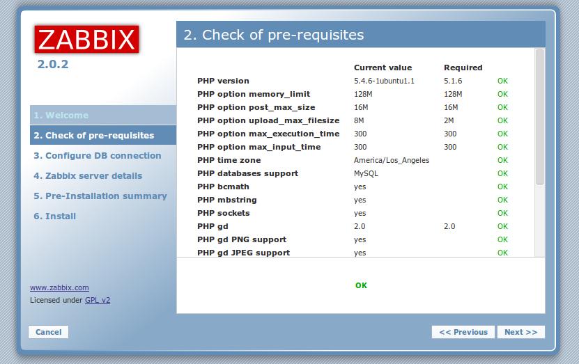 zabbix web front php settings pass Monitor Different Systems with Zabbix