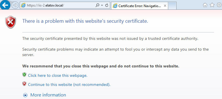IE cert error Setup Your Own Certificate Authority (CA) on Linux and Use it in a Windows Environment