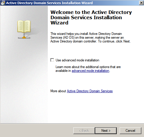 ad setup wizard Deploying a Test Windows Environment in a KVM Infrastucture