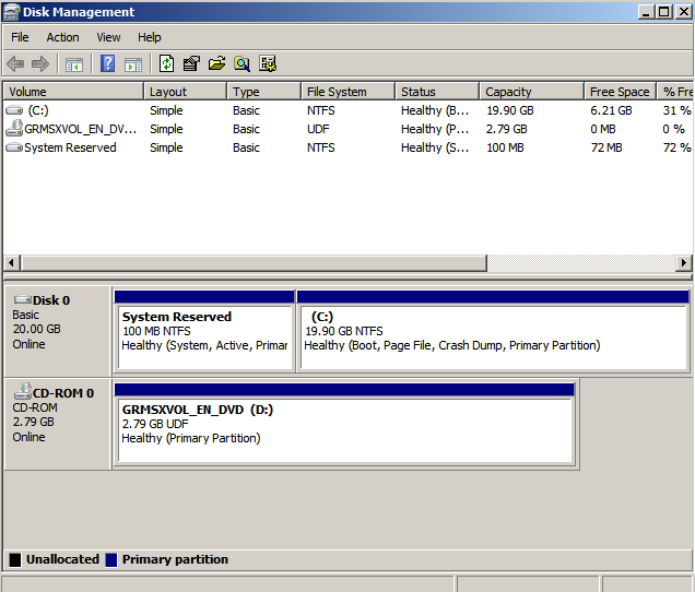 c part extended Extending the System Drive on Windows 2008 Running Under KVM