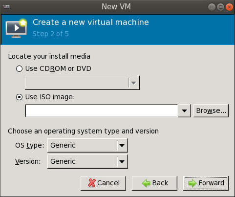 create new vm wizard step2 Deploying a Test Windows Environment in a KVM Infrastucture