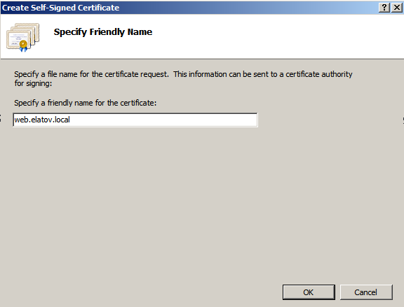 create self signed certificate Deploying a Test Windows Environment in a KVM Infrastucture