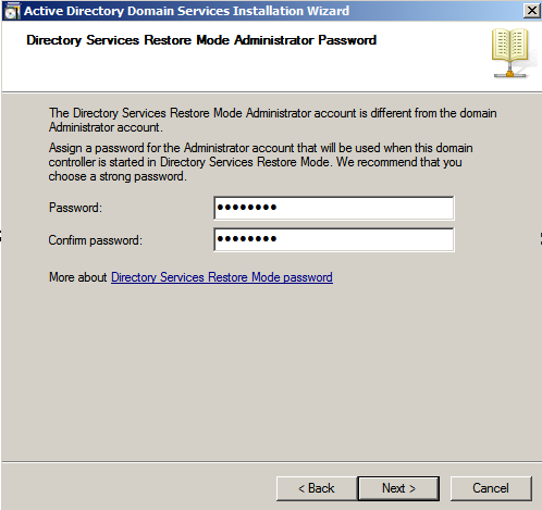 dir ser rest mode admin pass ad wiz Deploying a Test Windows Environment in a KVM Infrastucture