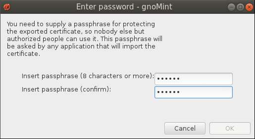 gnomint pass pro pfx file Setup Your Own Certificate Authority (CA) on Linux and Use it in a Windows Environment