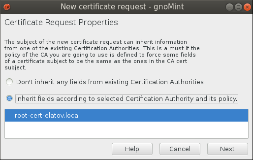 gnomint csr req Setup Your Own Certificate Authority (CA) on Linux and Use it in a Windows Environment