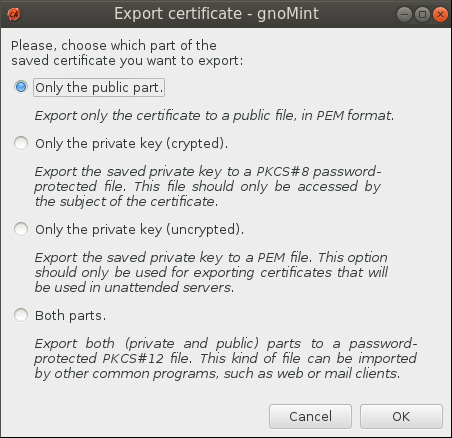 gnomint export public only Setup Your Own Certificate Authority (CA) on Linux and Use it in a Windows Environment