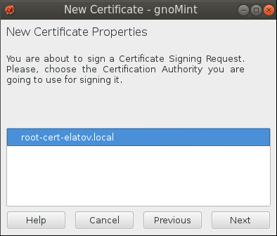gnomint sign csr choose ca Setup Your Own Certificate Authority (CA) on Linux and Use it in a Windows Environment