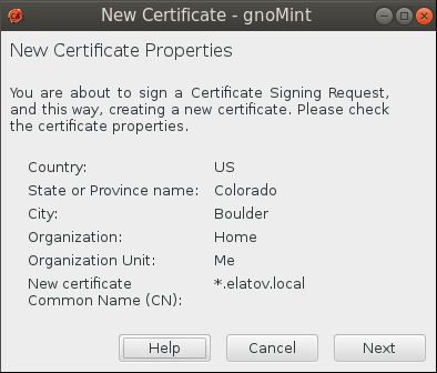 gnomint sign csr diag Setup Your Own Certificate Authority (CA) on Linux and Use it in a Windows Environment