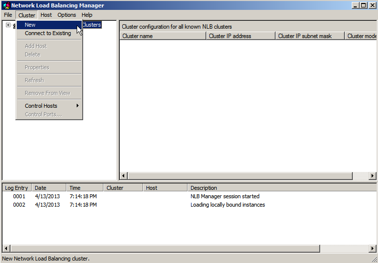 nlb mgr cluster new g Load Balancing IIS Sites with NLB
