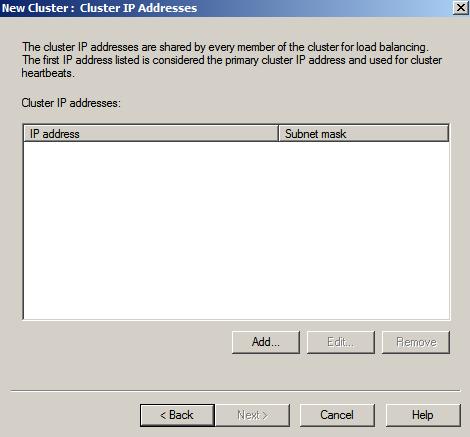 nlbmgr cluster ips Load Balancing IIS Sites with NLB