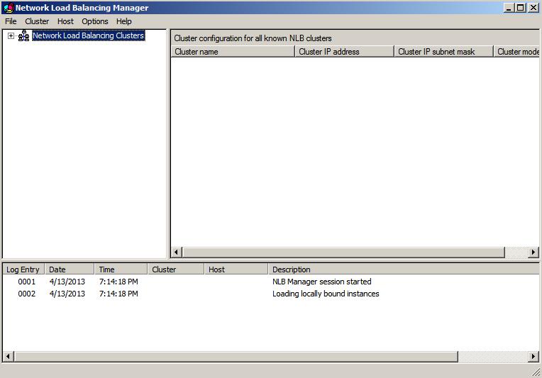 nlbmgr started Load Balancing IIS Sites with NLB