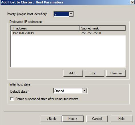 nlbmgr host params2 Load Balancing IIS Sites with NLB