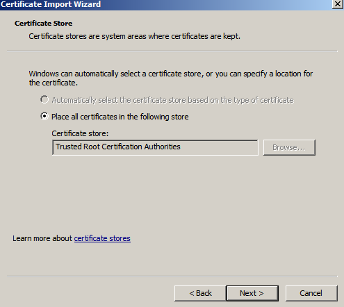 place root ca in trca Setup Your Own Certificate Authority (CA) on Linux and Use it in a Windows Environment