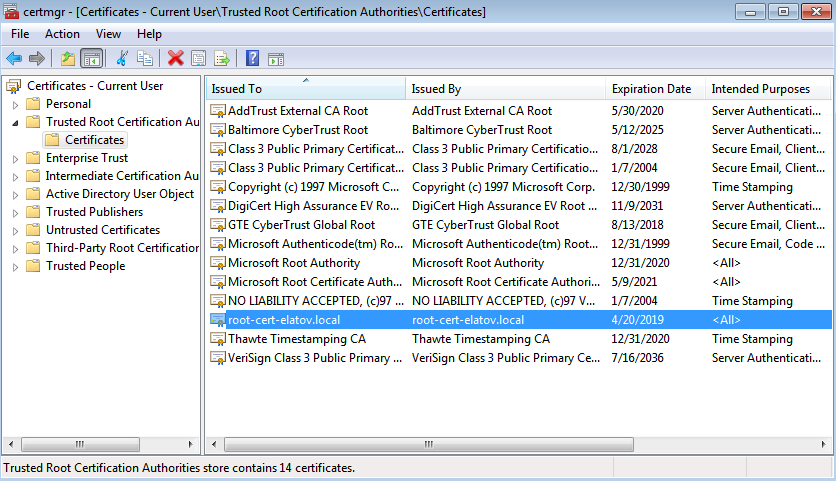 root cert added win client Setup Your Own Certificate Authority (CA) on Linux and Use it in a Windows Environment