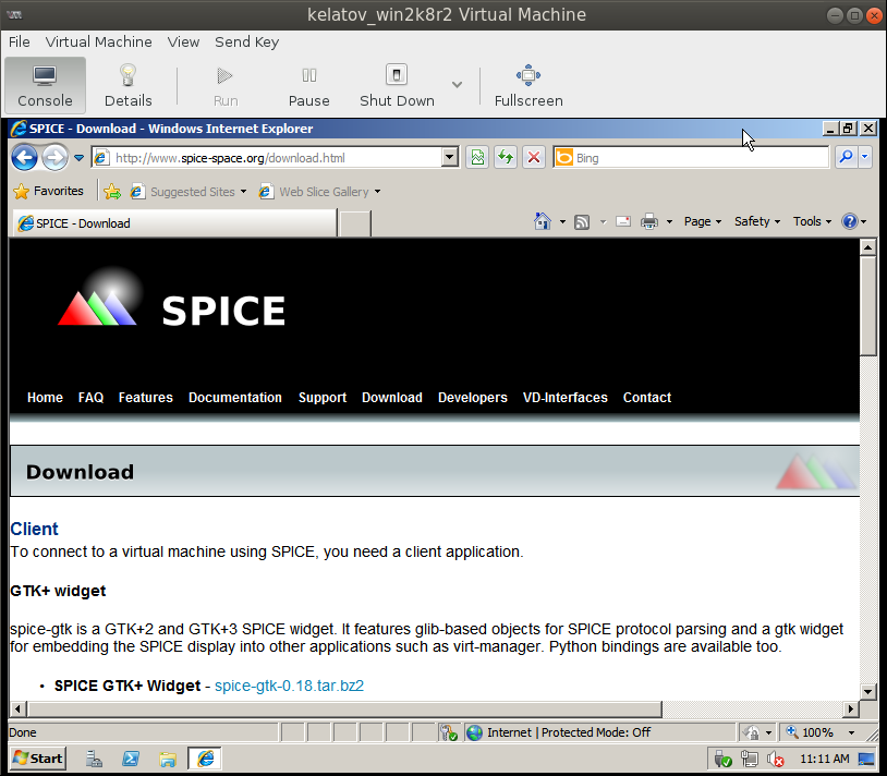 spice download page from vm Deploying a Test Windows Environment in a KVM Infrastucture