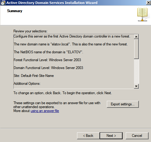 summary ad wiz Deploying a Test Windows Environment in a KVM Infrastucture