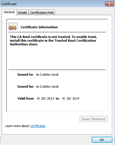 view certificate Setup Your Own Certificate Authority (CA) on Linux and Use it in a Windows Environment