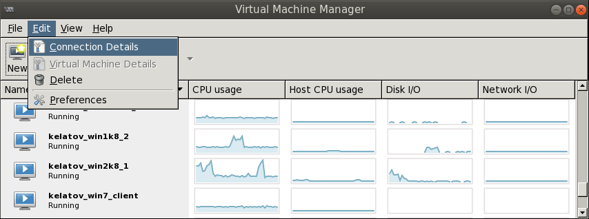 virt manager connection details Deploying a Test Windows Environment in a KVM Infrastucture