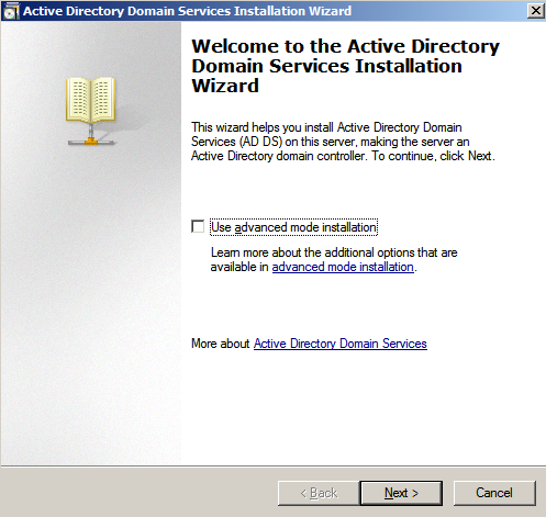ad wizard Configure AD Replication with Windows 2008